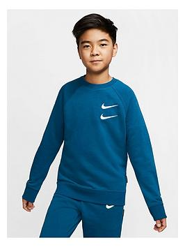 Nike Nike Boys Swoosh Hoodie - Blue Picture