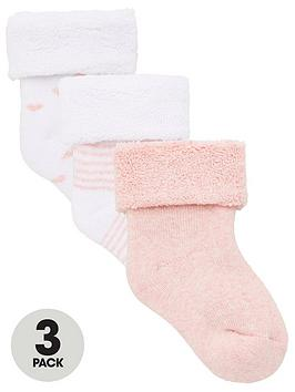 V by Very V By Very Baby Girls 3 Pack Little Heart, Stripe And Plain Terry  ... Picture