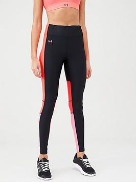 Under Armour Under Armour Heatgear Perforation Inset Leggings - Black/Pink Picture
