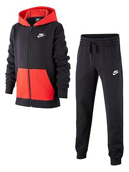 Nike Nike Nsw Older Boys Core Tracksuit - Black Red Picture