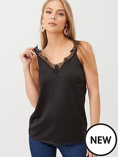 v-by-very-lace-trim-cami-black