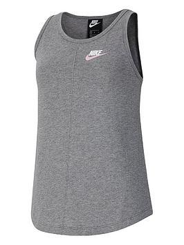 Nike Nike Girls Jersey Tank Top - Grey/Pink Picture