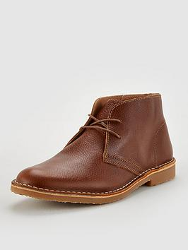 Office Office Baker Leather Desert Boots - Brown Picture