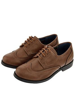 Monsoon Monsoon Boys Oxford Brogue Shoe - Brown Picture