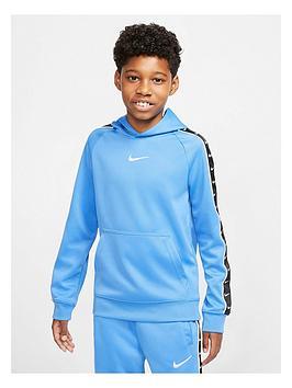 Nike Nike Sportswear Older Boys Swoosh Tape Hoodie - Blue Picture
