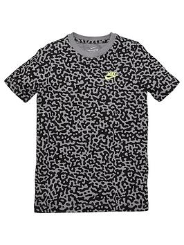 Nike Nike Childrens Mezzo T-Shirt - Grey Black Picture