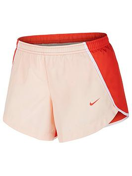 Nike Nike Girls Dri-Fit Running Shorts - Coral Picture