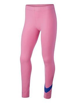 Nike Nike Nsw Older Girls Swoosh Leggings - Pink Picture