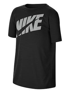 Nike Nike Boys Performance T-Shirt - Black/Grey Picture