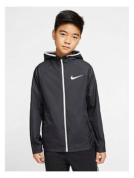 Nike Nike Boys Sport Woven Jacket - Black/White Picture