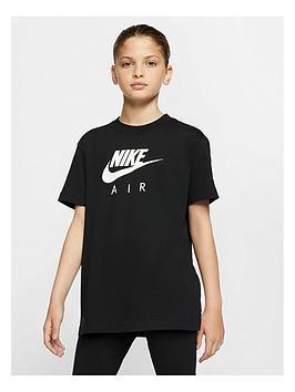 Nike Nike Girls Air Oversized T-Shirt - Black Picture