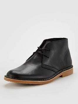 Office Office Baker Leather Desert Boots - Black Picture