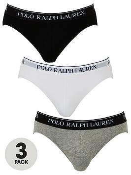 Polo Ralph Lauren Polo Ralph Lauren 3 Pack Briefs - Black/White/Grey Picture