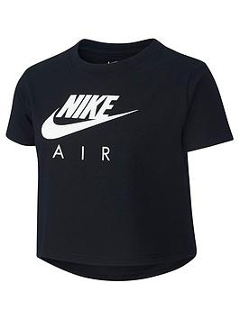 Nike Nike Air Girls Crop T-Shirt - Black Picture