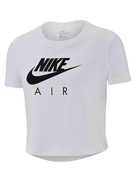 Nike Nike Air Girls Crop T-Shirt - White Picture