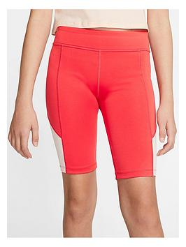 Nike Nike Older Girls Trophy Cycling Running Shorts - Red Picture