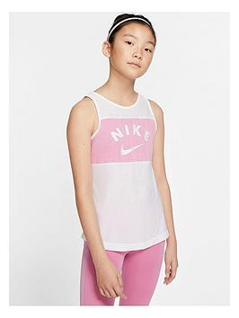 Nike Nike Girls Tank Top - White/Pink Picture