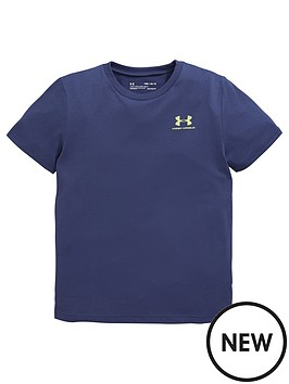 under-armour-childrensnbspsportstyle-left-chest-t-shirt-and-prototype-wordmark-short-set-navy-lime