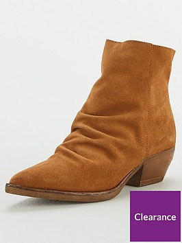 v-by-very-real-suede-ruched-ankle-boots-tan