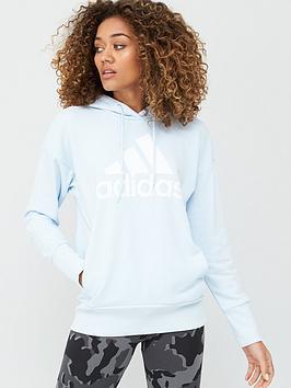 Adidas   Badge Of Sport Long Hoodie - Blue