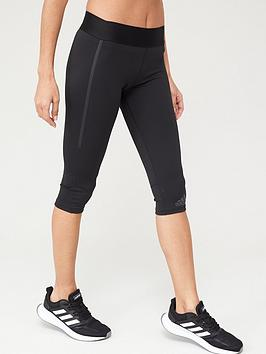Adidas Adidas Alphaskin Tech Capri Leggings - Black Picture