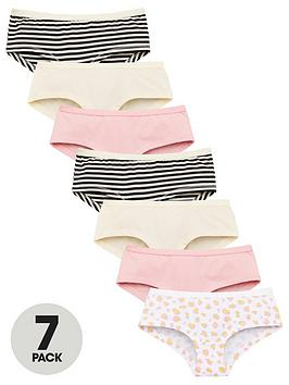 V by Very V By Very Girls 7 Pack Hipster Briefs - Multi Picture