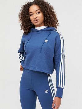 adidas Originals  Adidas Originals Cropped Hoodie - Navy