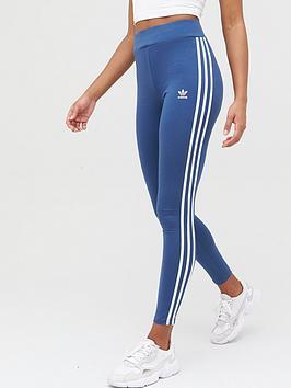 adidas Originals Adidas Originals 3 Stripe Leggings - Navy Picture
