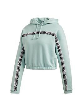 adidas Originals  Adidas Originals Cropped Hoodie - Green