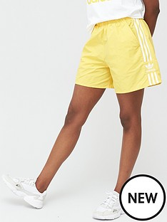 adidas-originals-3-stripe-short-yellow