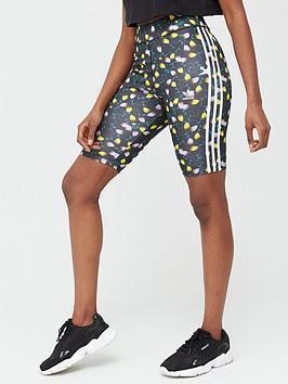 adidas Originals  Adidas Originals All Over Print Cycling Shorts - Multi