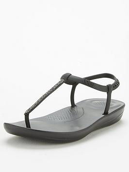 FitFlop Fitflop Sparkle Bella Iqushion Flat Sandal - Black Picture