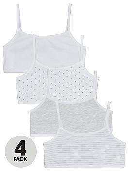 V By Very Girls 4 Pack Crop Tops - Multi