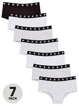 V by Very V By Very Girls Sports Briefs (7 Pack) - Multi Picture