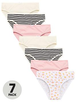 V by Very V By Very Girls 7 Pack Briefs - Multi Picture