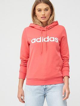 Adidas   Essentials Linear Hoodie - Pink