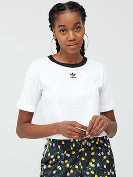 adidas Originals Adidas Originals Crop Top - White Picture