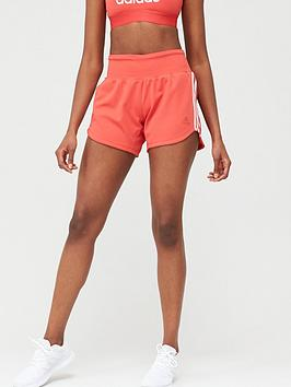 Adidas  3 Stripe Woven Gym Short - Red