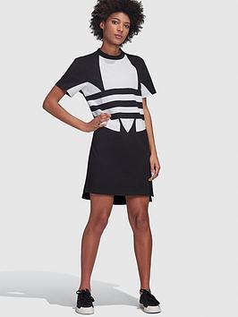 adidas-originals-large-logo-t-shirt-dress-blacknbsp