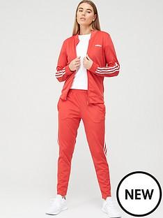adidas-back-2-basics-3-stripe-tracksuit-rednbsp