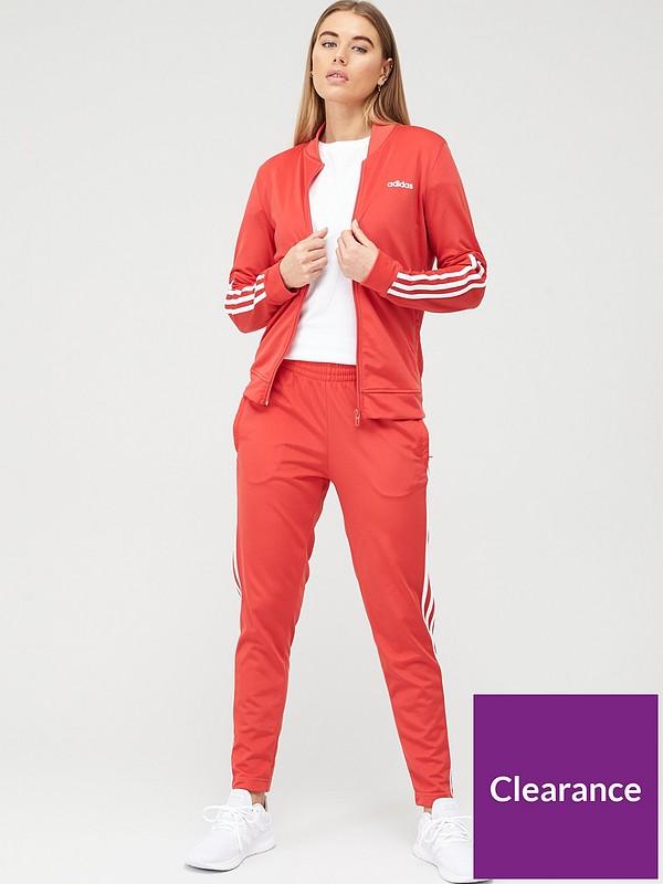 Esclusivo sofferenza Formulare  adidas Back 2 Basics 3 Stripe Tracksuit - Red | littlewoods.com