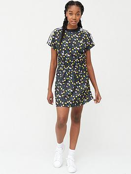 adidas Originals  Adidas Originals All Over Print T-Shirt Dress - Multi