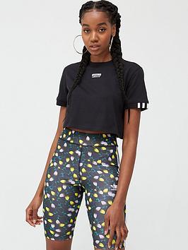 adidas Originals Adidas Originals Cropped T-Shirt - Black Picture