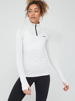 Adidas Adidas Trace Rocker 1/2 Zip Long Sleeve - Grey Picture