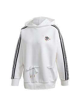 adidas Originals  Adidas Originals Pullover Hoodie - White