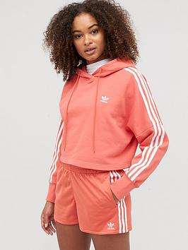 adidas Originals  Adidas Originals Cropped Hoodie - Red