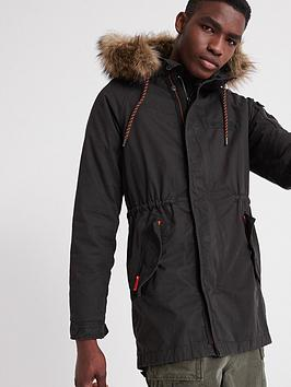 Superdry Superdry Mountain Rookie Aviator Parka Coat - Black Picture