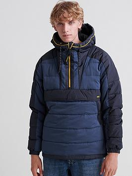 Superdry Superdry Downhill Padded Overhead Jacket - Navy Picture