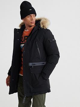 Superdry Superdry Waterproof Premium Ultimate Parka Jacket - Black Picture