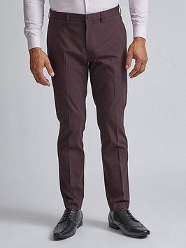 burton-menswear-london-stretch-trousers-burgundy